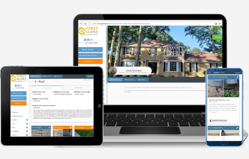 Modern, intuitive home inspection software